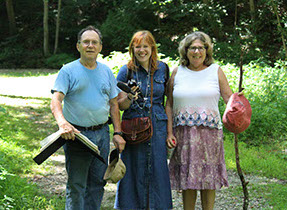Mike Ciosek with Megan Pauly and Myna German during their tour of Brandywine Springs (Angela Evans Photo)